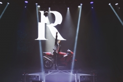 Reza makes his motorcycle appear out of thin air!